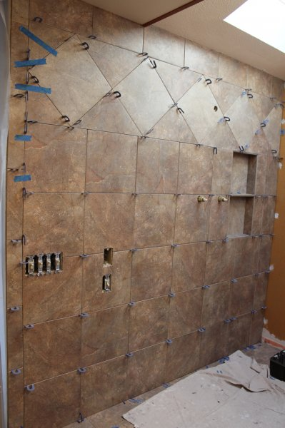 Porcelain tile master bathroom remodel in Fort Collins, Colorado _1598