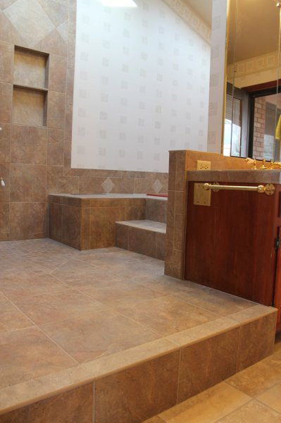 Porcelain tile master bathroom remodel in Fort Collins, Colorado _1607