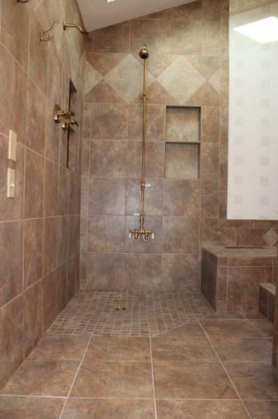 Porcelain tile master bathroom remodel in Fort Collins, Colorado _1612