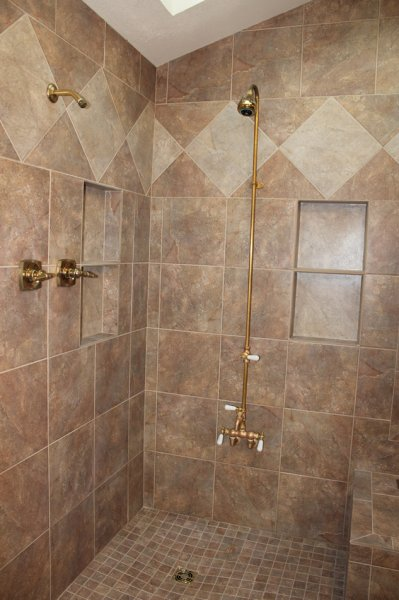 Porcelain tile master bathroom remodel in Fort Collins, Colorado _1620
