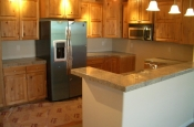 granite kitchen countertops.