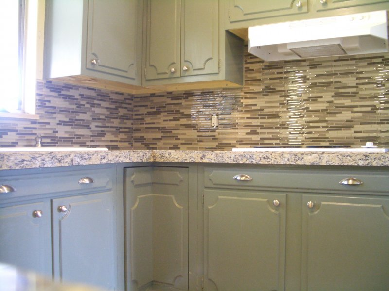 kitchen granite tile countertop and glass backsplash finish 1