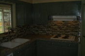 Kitchen Granite Tile Countertop and Glass Backsplash final 1