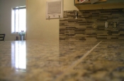 Kitchen Granite Tile Countertop and Glass Backsplash last 2