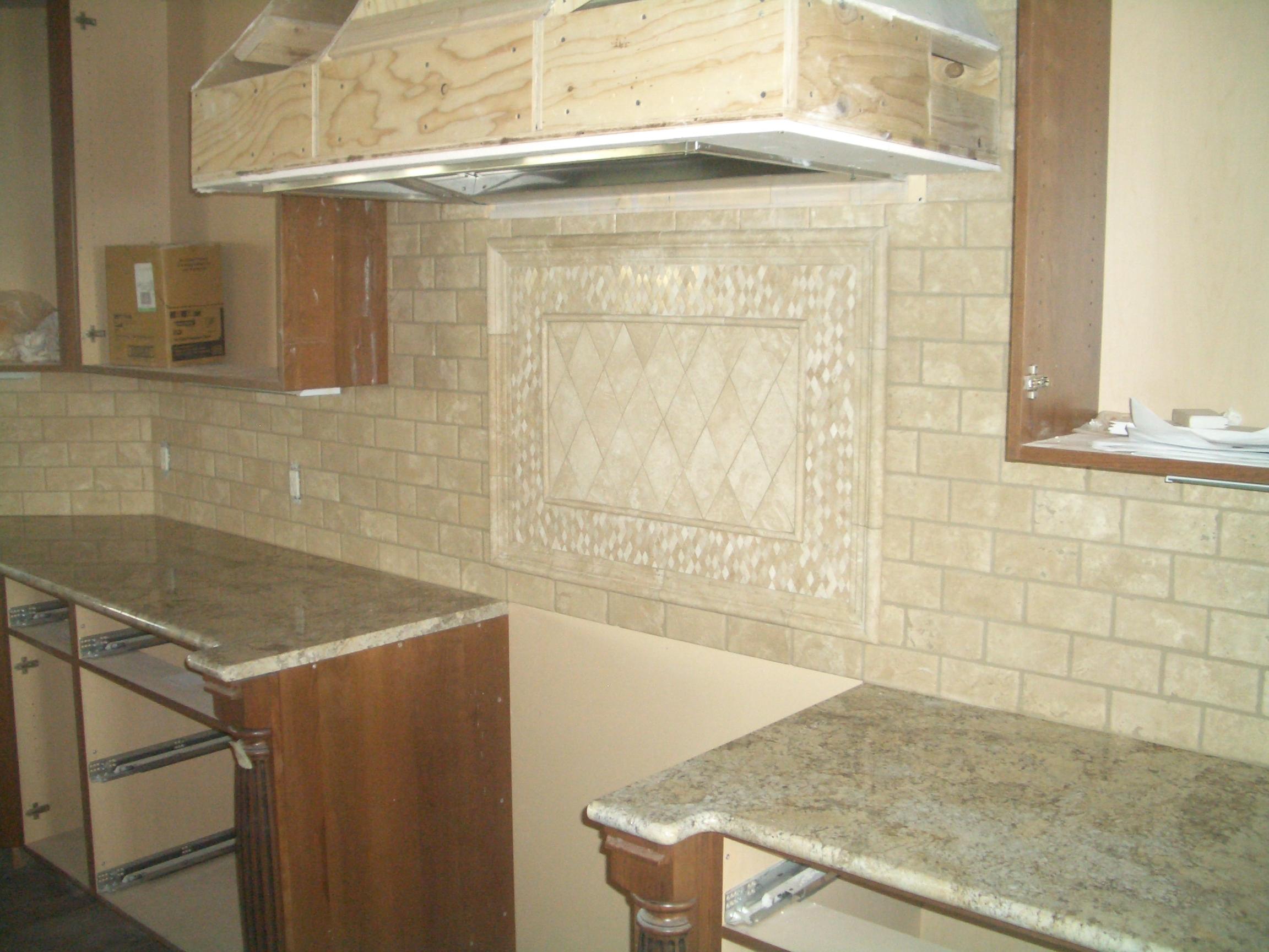 viewing gallery for travertine tile backsplash