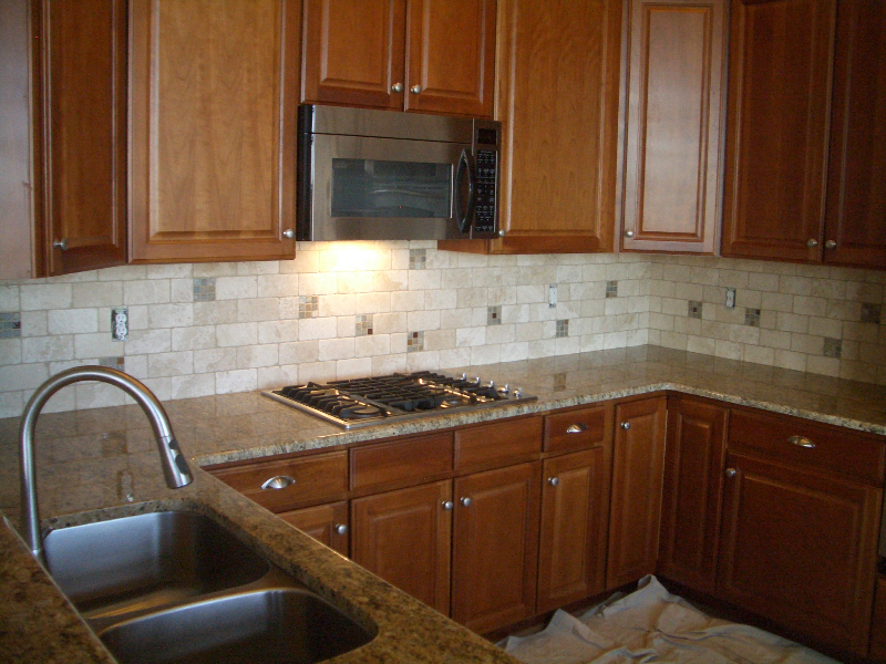 Travertine Subway Tile Counters Tile Backsplash Pinterest