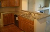 Granite tile bar and kitchen countertop
