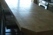 Porcelain kitchen bar countertop