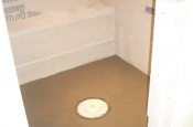 shower floor constructed