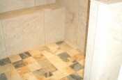 shower floor and bench