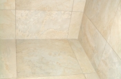 Upper corner in shower