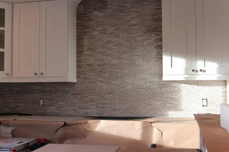 Limestone mosaic kitchen backsplash in Fort Collins_1839