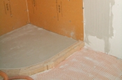 Kerdi-board master bathroom shower in Fort Collins