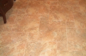 Florida Tile Taconic Slate porcelain master bathroom pinwheel floor in Fort Collins