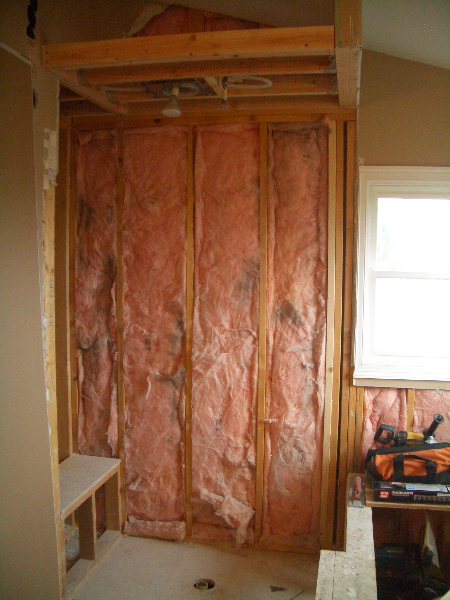 Walls ready to build a new shower