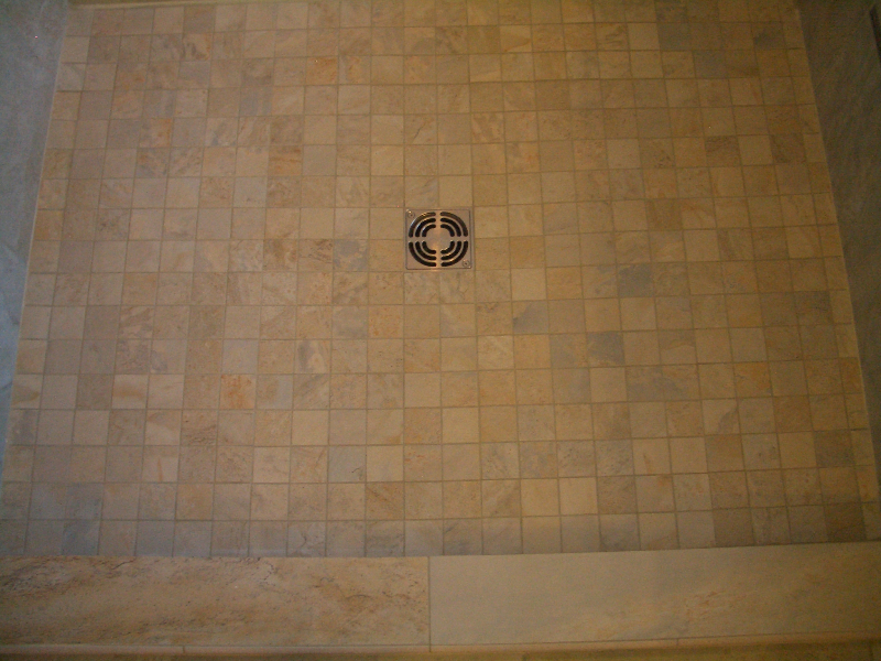 porcelain shower floor tile installation
