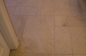 Porcelain floor tile installation