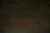 Porcelain slate basketweave tile floor with Ditra