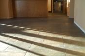Porcelain slate basketweave floor with Ditra in Fort Collins