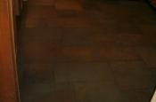 Porcelain slate tile floor with Ditra