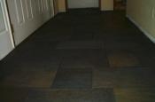 Porcelain slate tile floor with Ditra in Fort Collins