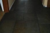 Porcelain slate tile floor with Ditra in Ft Collins