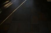 Porcelain slate basketweave tile floor in Ft. Collins