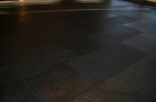 Porcelain slate basketweave floor in Ft. Collins