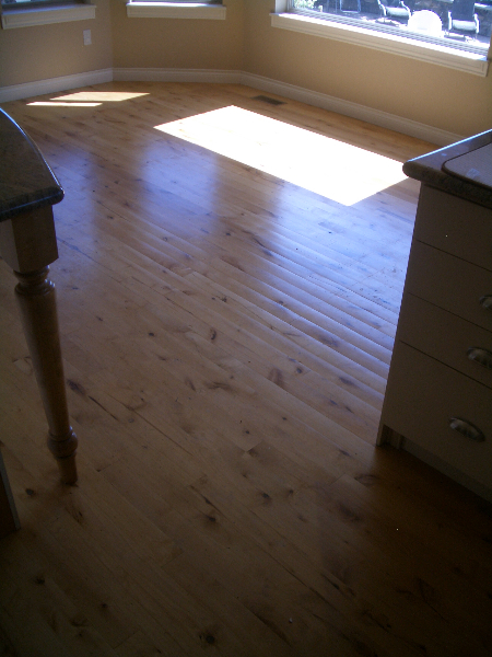 Before photo of wood floor