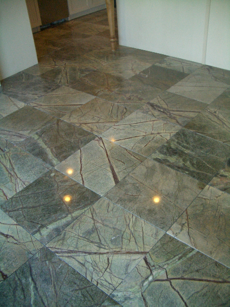 Marble tile floor installation contractor