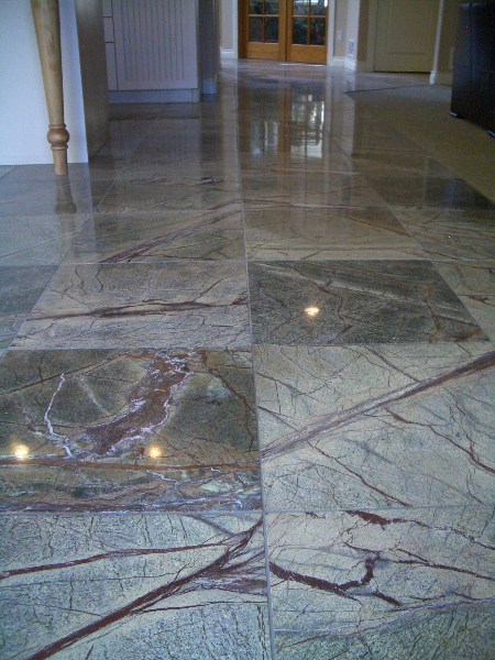 Green Marble Floor : Rainforest green marble floor in longmont