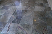 18 x 18 marble tile floor installation