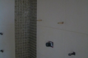 Master bathroom porcelain and glass steam shower in Fort Collins, Colorado
