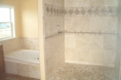 Homes For Our Troops Master bathroom ADA Shower in Parker, Colorado