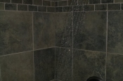 Porcelain master bathroom tile shower in Fort Collins, Colorado