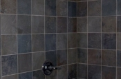 Slate shower tile in Loveland, Colorado