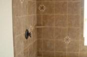Ceramic tile shower in Fort Collins, Colorado