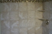 Ceramic shower tile installation in Fort Collins, Colorado