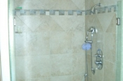 Ceramic tile curbless shower in Fort Collins, Colorado