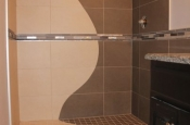 Custom wave design in shower