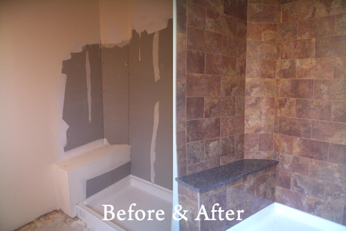 Link to page with Before and After Tile Installation Photos