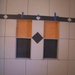 Porcelain tile shower niches remodel in Fort Collins
