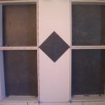 Porcelain tile shower niches in Fort Collins