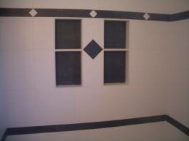 Porcelain shower tile remodel in Fort Collins