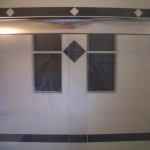 Porcelain shower tile niches in a bathroom remodel in Fort Collins