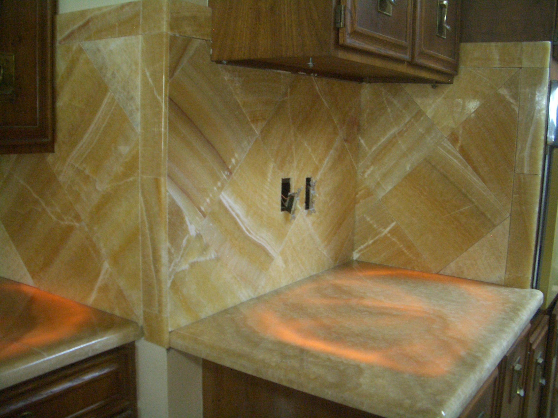 Onyx Kitchen Backsplash