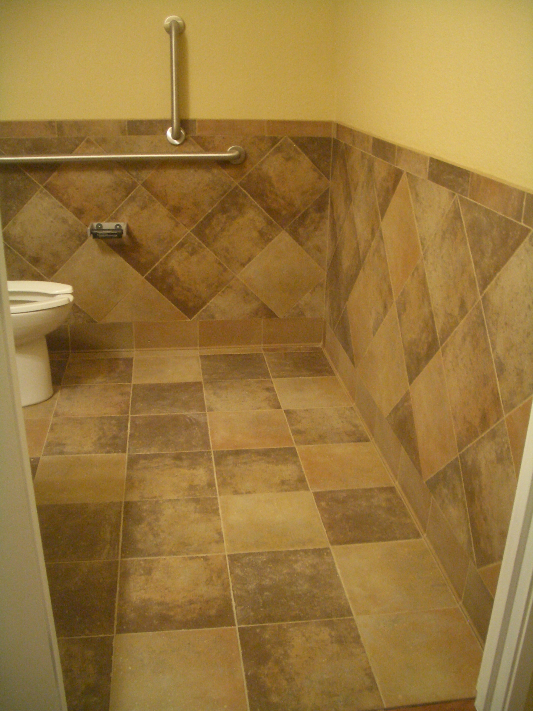 Floor bathroom tile