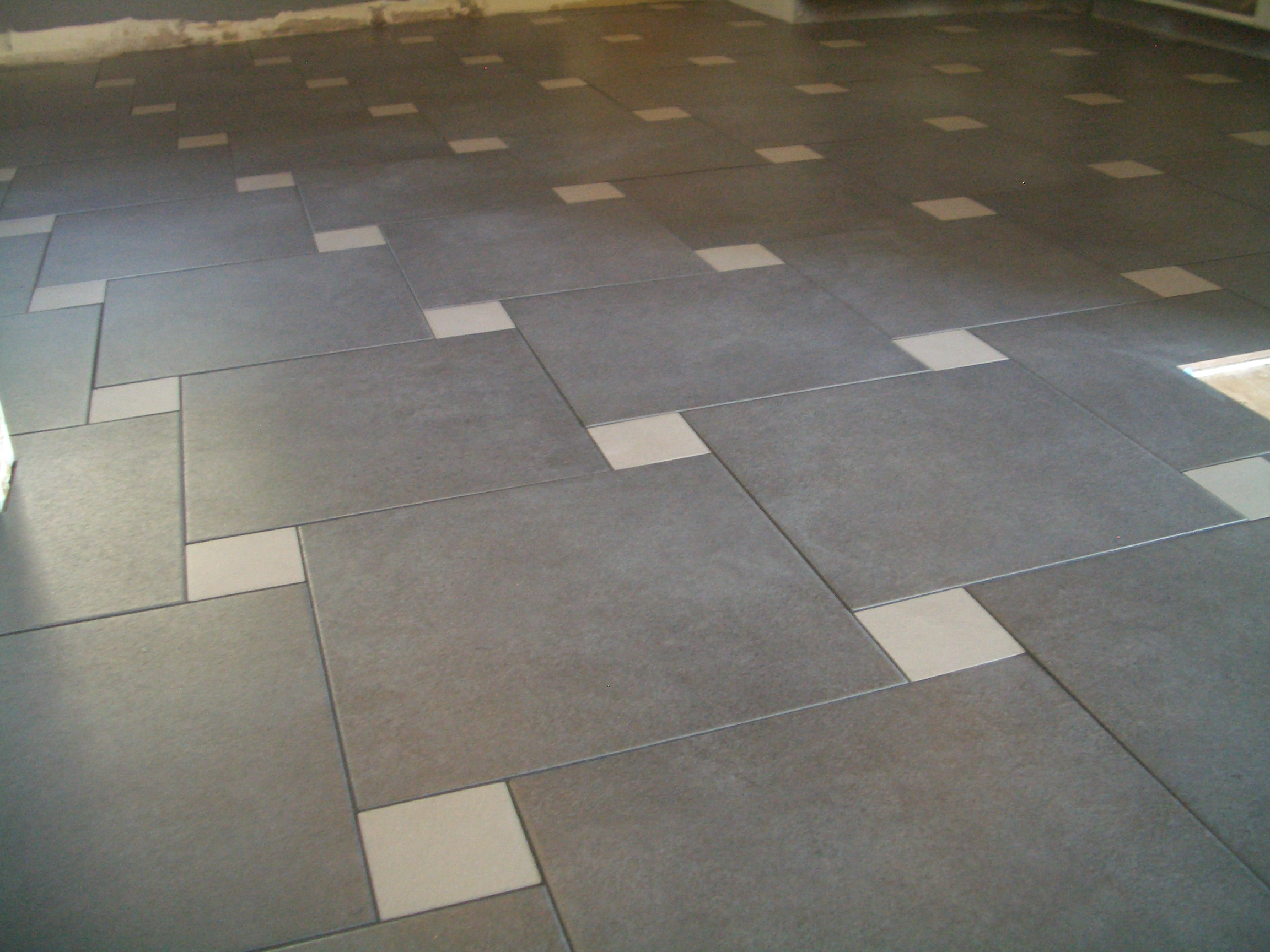 Pinwheel porcelain kitchen floor in loveland for New kitchen floor tiles