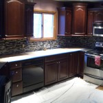 Glass tile backsplash in Northern Colorado