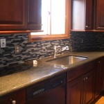 Glass tile kitchen backsplash in Fort Collins, CO